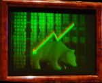 "Hologram ""Bulls and bears"", 2-channel"